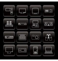 line hi-tech equipment icons vector image
