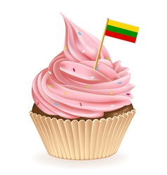 Lithuanian Cupcake vector image