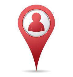Location people icon vector