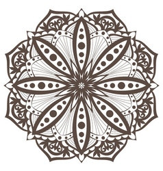 Mandala5 brown vector