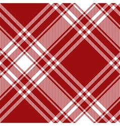 Menzies tartan red kilt diagonal fabric texture vector image