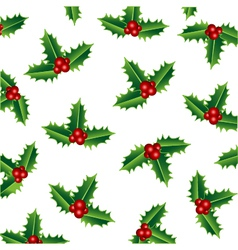 merry christmas holly vector image