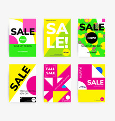minimal geometric posters set vector image