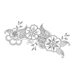 Monochrome mendie design vector