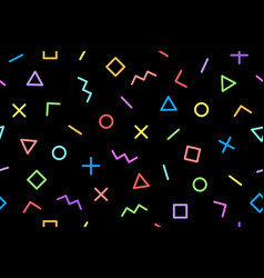Pattern seamless memphis geometric graphic vector