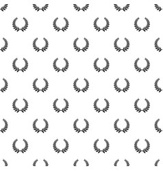 Plant wreath pattern seamless vector