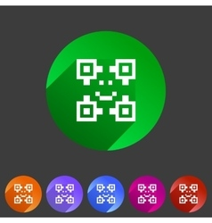 Qr code icon flat web sign symbol logo label vector