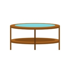 Round trampoline icon flat style vector