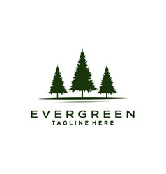 Rustic retro vintage evergreen pines spruce ced vector