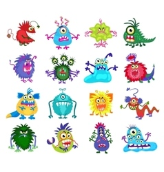 Scary monster set vector