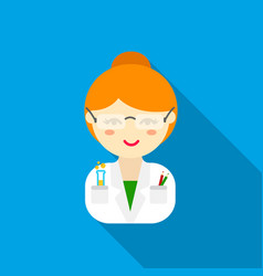 scientist flat icon for web and vector image
