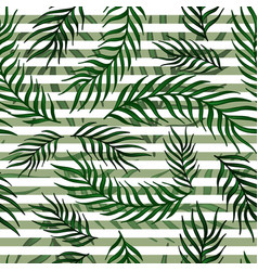 seamless exotic pattern with palm leaves vector image