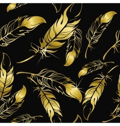 Seamless pattern feathers vector