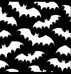 seamless pattern with bats halloween vector image