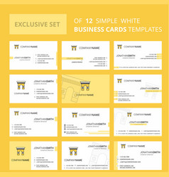 Set of 12 gate creative busienss card template vector