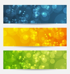 Set of abstract backgrounds with bokeh effect vector