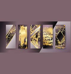 Set of elegant brochure card background cover vector