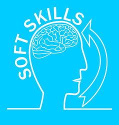 soft skills presentation template with human head vector image