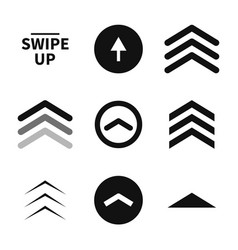 swipe up set buttons for social media black vector image
