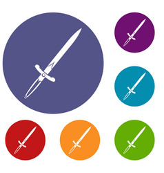 Sword icons set vector