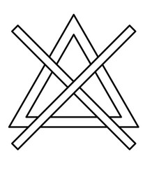 symbol do not bleach black color icon vector image