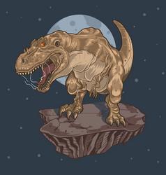 t-rex wild vector image