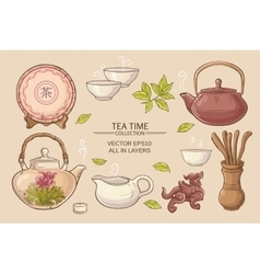Tea ceremony set vector
