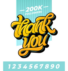 thank you followers banner editable vector image