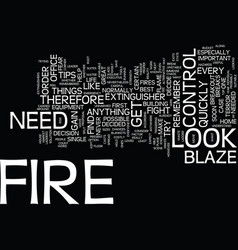 The best tips to fight fire text background word vector