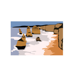 the twelve apostles australia vector image