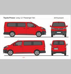 Toyota proace passenger long van l3 2016-present vector