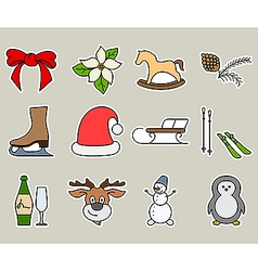 Winter activities vector image