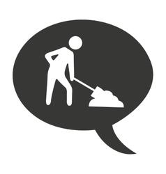 Worker shovel man construction vector