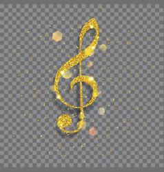 Big shiny treble clef vector