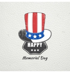 Happy Memorial day set The celebration of vector image vector image