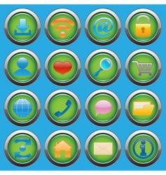 internet web glossy icons set vector image