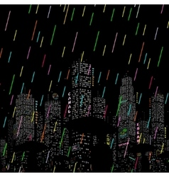 Rain in the City Background vector image vector image