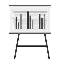 whiteboard with statistics isolated icon design vector image
