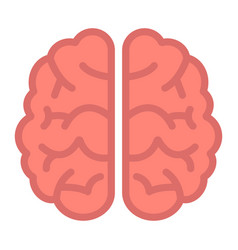 brain flat icon brainstorm and idea medical vector image vector image