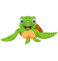 Cute baby turtle vector