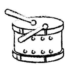 Drum instrument toy icon vector