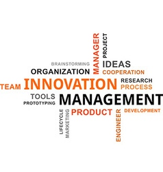 Word cloud innovation management vector