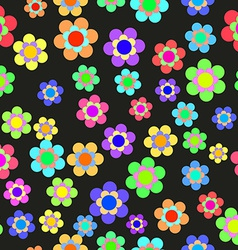 Abstract Colorful Floral Seamless Pattern vector image vector image