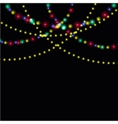 Bright festive lights against the backdrop of vector image