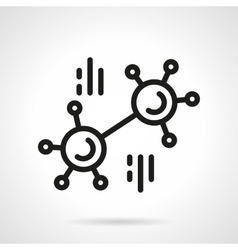 Chemical connection simple line icon vector image vector image
