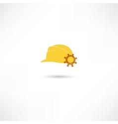 helmet with a gear vector image