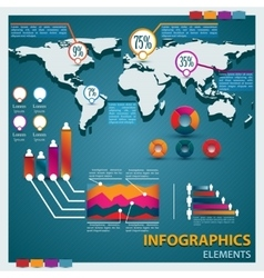 Premium infographics master collection vector image