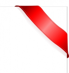 red ribbon vector image vector image