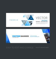 set of modern horizontal website banners vector image vector image