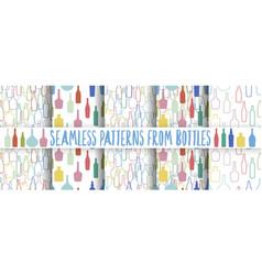 set of wine bottles pattern vector image vector image